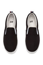 Slip-on canvas trainers - Black - Kids | H&M 2