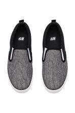Sneakers slip-on in tela - Nero/bianco - BAMBINO | H&M IT 2