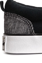 Sneakers slip-on in tela - Nero/bianco - BAMBINO | H&M IT 3