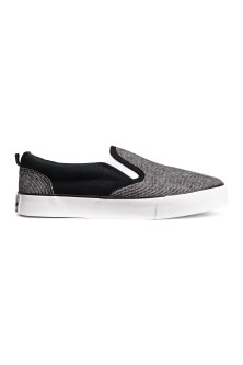Slip-on canvas trainers
