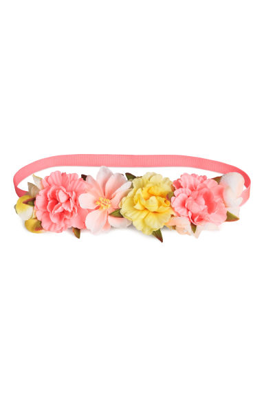 Hairband with flowers - Pink/Yellow - Kids | H&M CN