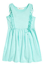 Jersey dress with fringes - Mint green - Kids | H&M CN 2