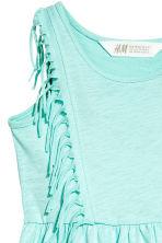 Jersey dress with fringes - Mint green - Kids | H&M CN 3