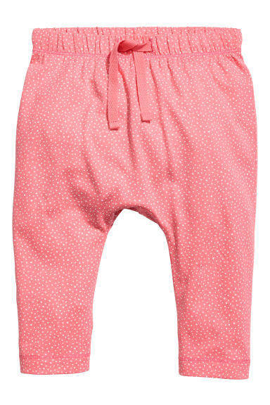 Jersey trousers - Coral pink -  | H&M 1