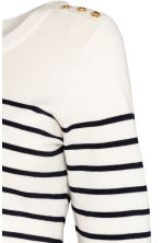MAMA Fine-knit jumper - White/Striped - Ladies | H&M CN 2