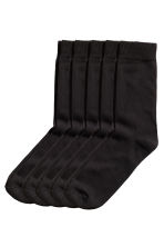 5-pack socks - Black - Men | H&M CN 1