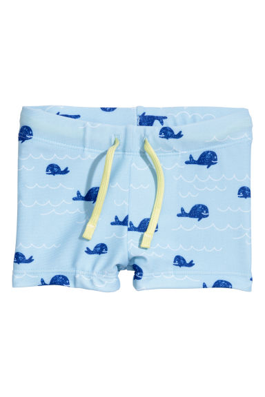 Patterned swimming trunks - Light blue/Whale - Kids | H&M 1