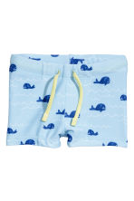 Patterned swimming trunks - Light blue/Whale - Kids | H&M CN 1