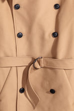 Cotton trenchcoat - Dark beige - Men | H&M CN 3