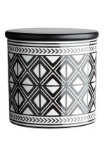 Stoneware jar - White/Black patterned - Home All | H&M CN 2