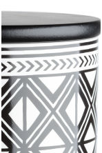 Stoneware jar - White/Black patterned - Home All | H&M CN 3