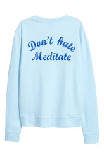Printed sweatshirt - Light blue - Ladies | H&M CN 3