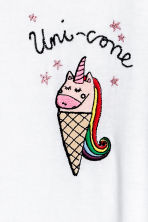 T-shirt with a motif - White/Unicorn -  | H&M GB 3
