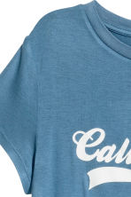 T-shirt with a motif - Pigeon blue - Ladies | H&M CN 3
