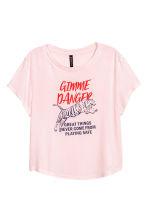 T-shirt with a motif - Light pink/Tiger - Ladies | H&M 2