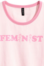 Cotton jersey T-shirt - Light pink - Ladies | H&M 3