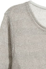 Knitted top - Grey - Ladies | H&M 3