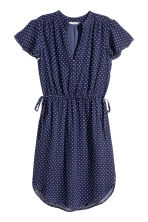 Short dress - Dark blue/Spotted - Ladies | H&M 2