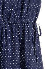 Short dress - Dark blue/Spotted - Ladies | H&M 3