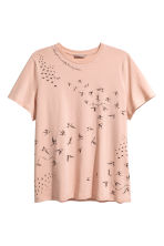 H&M+ Printed T-shirt - Powder/Birds - Ladies | H&M 1