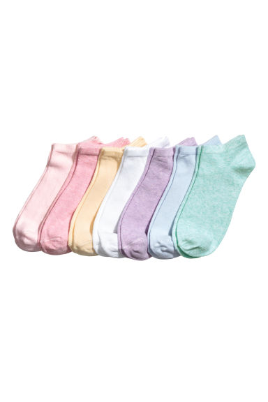 7-pack trainer socks - Light yellow -  | H&M 1