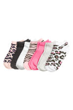 7-pack trainer socks - Neon pink -  | H&M CN 1