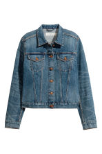Denim jacket - Dark denim blue - Ladies | H&M 2