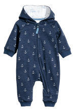 Sweatshirt all-in-one suit - Dark blue/Anchor - Kids | H&M 1