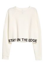 Cropped sweatshirt - White - Ladies | H&M 2
