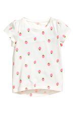 Pigiami in jersey, 2 pz - Bianco/fragole -  | H&M IT 3