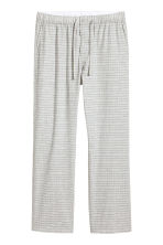 Patterned pyjama bottoms - Light grey/Checked - Men | H&M CN 2