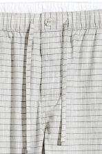 Patterned pyjama bottoms - Light grey/Checked - Men | H&M CN 3