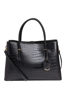 Crocodile-patterned handbag