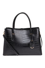 Crocodile-patterned handbag - Black - Ladies | H&M CN 1