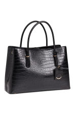 Crocodile-patterned handbag - Black - Ladies | H&M CN 2