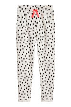 印花慢跑褲 - White/Spotted -  | H&M 2