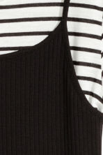 Double-layered top - Black/White - Kids | H&M 3