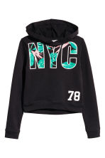 Printed hooded top - Black/New York - Kids | H&M CN 2