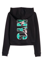Printed hooded top - Black/New York - Kids | H&M CN 3