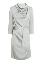 Crêpe dress - Light grey - Ladies | H&M CN 2