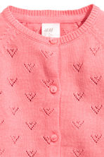 Fine-knit cotton cardigan - Coral pink -  | H&M 2