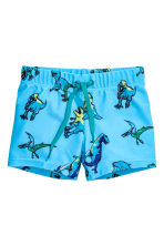 Patterned swimming trunks - Turquoise/Dinosaurs - Kids | H&M 1
