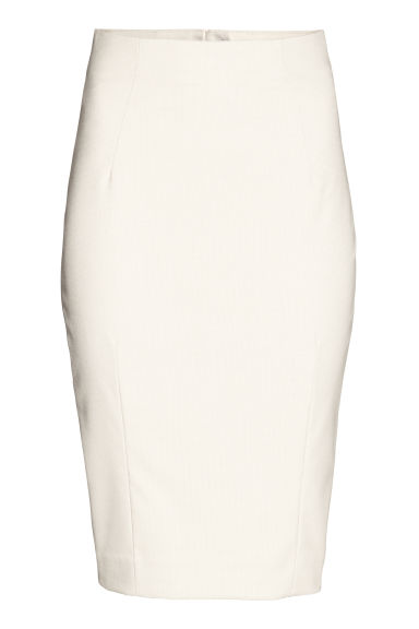 Pencil skirt - Light beige/Pattern - Ladies | H&M CN 1