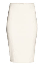 Pencil skirt - Light beige/Pattern - Ladies | H&M 1