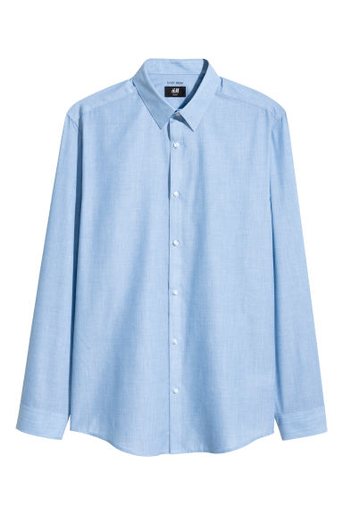 Easy-iron shirt Slim fit - Blue/Chambray - Men | H&M 1