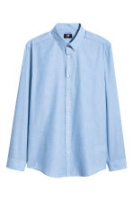 Easy-iron shirt Slim fit - Blue/Chambray - Men | H&M CN 1