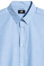 Easy-iron shirt Slim fit - Blue/Chambray - Men | H&M CN 2