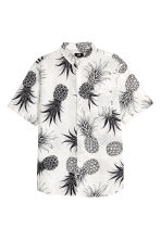 Shirt Regular fit - White/Pineapple - Men | H&M 1