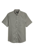 Shirt Regular fit - Khaki green - Men | H&M CN 2