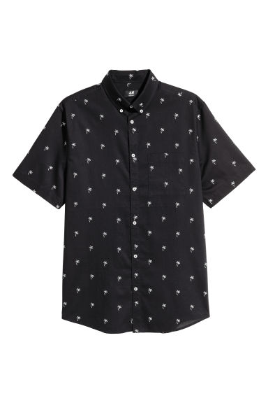 Shirt Regular fit - Black/Palms - Men | H&M